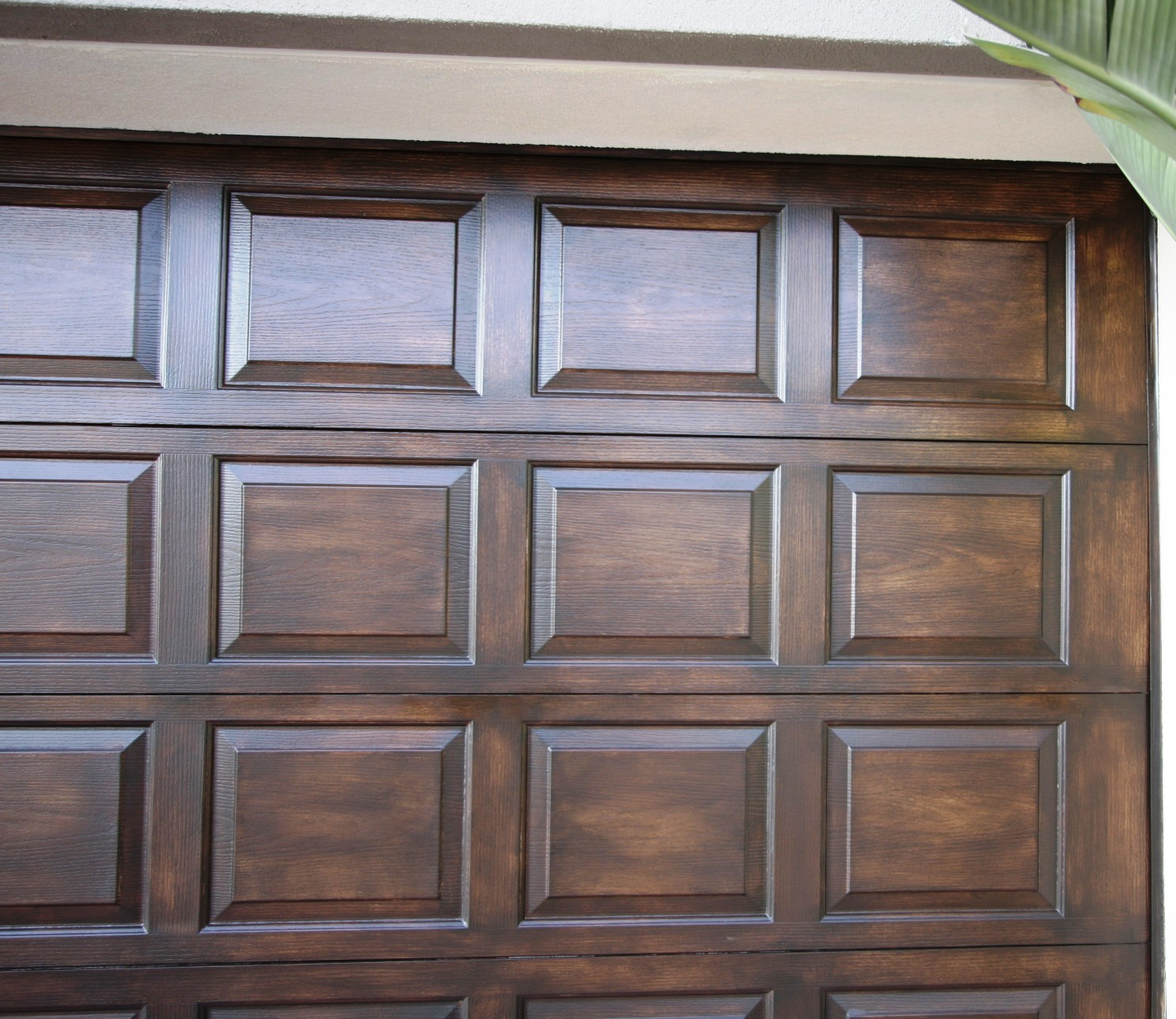 Faux wood painted garage doors - Faux Garage Doors