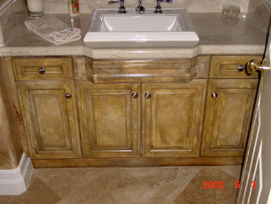 cabinet finsihes - Faux Kitchen Cabinets